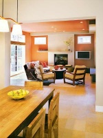 Cool and Contemporary: Family Room