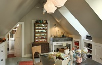 Great use for the upper floor of a garage - traditional - home office - other metro