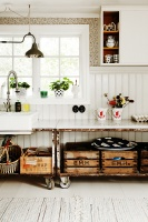 Country Scandinavian Vintage Kitchen
