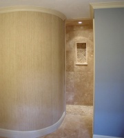 Walk-In Shower Entrance - traditional - bathroom - boston