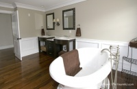 Wainscot and Picture Frames - traditional - bathroom