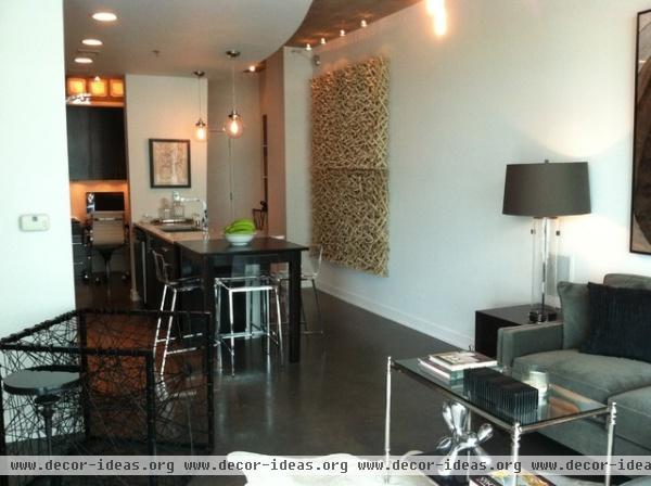 Modern Midtown Remodel - contemporary - living room - atlanta