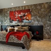 Torn wallpaper - contemporary - bedroom - omaha
