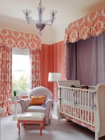 Whimsical Coral Nursery and Purple Canopy : Designers' Portfolio