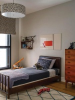 Kid's Bedroom with Roman Shades and Twin Bed : Designers' Portfolio