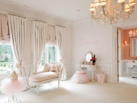 Pink Children's Bedroom with Ballerina Skirts & Chaise : Designers' Portfolio