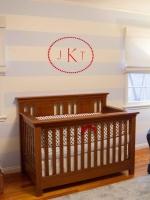 Monogram Decal Over Crib in Nautical Nursery : Designers' Portfolio