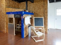 Industrial Style Basement With Kids Playhouse : Designers' Portfolio