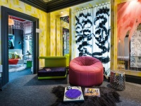 Eclectic, Teens Bedroom with Pink Seat & Record Player   : Designers' Portfolio