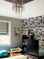 Black And White Whale Wallpaper in Boy's Nursery : Designers' Portfolio